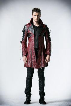 Punk Rave unisex Gothic Jacket Man-made Leather Rock steampunk Coat Lot clothing   eBay