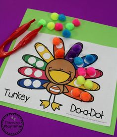 Thanksgiving Theme – Preschool Fun Turkey Activities for Preschool – November and Thanksgiving Themed Unit Art Therapy Activities, Autumn Activities, Thanksgiving Activities For Preschool, Preschool Fall Theme, Turkey Crafts For Preschool, Kids Crafts, Fall Crafts, Fun Activities, Wood Crafts