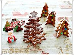 Gingerbread Christmas Tree Cookies  @Ann @ Anncoo Journal