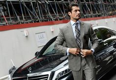 GQ: Street Style: Tommy Ton Shoots London Collections: Men - David Gandy - june 15, 2014