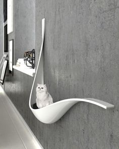 A new generation of pet houses, like it? Cat house by MA Iran ____ Inf A new generation of pet houses, like it? Cat house by MA Iran ____ Inf Hammock Swing Chair, Swinging Chair, Cat Hammock, Cat Shelves, Shelf, Cat Room, Pet Furniture, Modern Cat Furniture, Furniture Removal