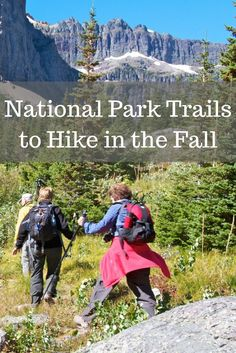 Cooler weather and smaller crowds make for great fall hiking in U.S. National Parks. Click through to read about our favorite trails before making national park travel plans.