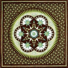 "Morning Glory - Foundation Paper Piecing Pattern – 45"" x 45"" Quilt – - PaperPiecedQuilting.com"