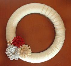 Christmas felt wreath