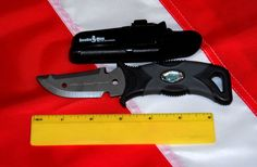 Blue Dagger knife scuba diving equipment KN-117 spearfish freedive diver GIFT #ScubaMax