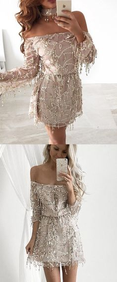Bodycon Long Sleeves Sequins Homecoming Dresses, Shop plus-sized prom dresses for curvy figures and plus-size party dresses. Ball gowns for prom in plus sizes and short plus-sized prom dresses for Dresses Short, Plus Size Prom Dresses, Party Dresses, Party Outfits, Dresses Dresses, Mini Dresses, Dress Long, Formal Dresses, Champagne Homecoming Dresses
