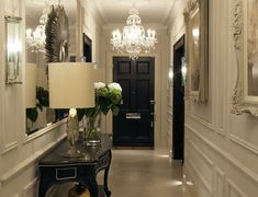 Hyde Park apartment - hallway #chandelier #lighting