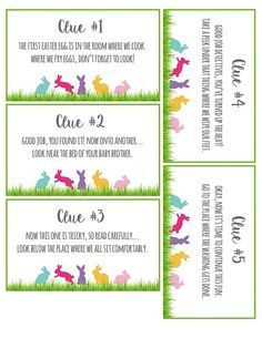 Easter Scavenger Hunt Clues Free printable via Easter Egg Hunt Clues, Easter Eggs, Easter Egg Hunt Ideas, Scavenger Hunt Clues, Scavenger Hunts, Easter Scavenger Hunt Riddles, Easter Traditions, Holiday Traditions, Easter Activities