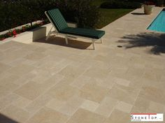 Natural stones pavers gives the stunning look around the pools and where ever the placing its beauty of interlocking the stones gives the best part in front of the garden. Custom Countertops, Quartz Countertops, Granite, Natural Stone Pavers, Natural Stones, Solid Surface, Swimming Pools, Home And Garden, Patio