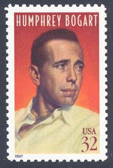 Humphrey Bogart - Single Stamp3rd in Legends of Hollywood Series United States, 1997