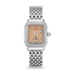 Michele Women's MWW06V000079 Deco 16 Diamond Stainless Steel Watch