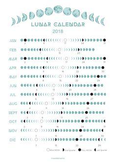 2018 Lunar Calendar on Etsy