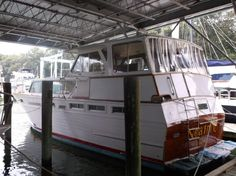 1970 Viking flush deck Motor Yacht for sale Maryland, Vikings, Chesapeake City, Diesel, Power Boats For Sale, Classic Wooden Boats, Fresh Water Tank, Wood Boats, Engine Types