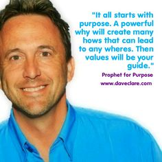 With a massive why you can come up with many hows to get you any wheres! Purpose first.