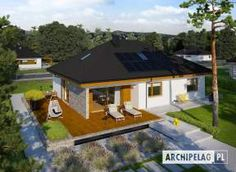 Astrid III G2 - projekt domu - Archipelag My Home Design, House Design, Bungalow House Plans, Random House, Malaga, Home Fashion, Home Projects, Floor Plans, Cabin