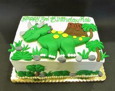 Dinosaur birthday cake  www.realbuttercream.com
