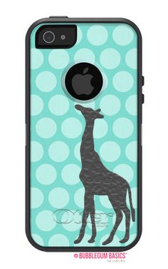 100% Genuine OTTERBOX COMMUTER for iPhone 5 5S 4 4S Samsung Giraffe Jungle Animal Polka Kids Phone Case Aqua Grey