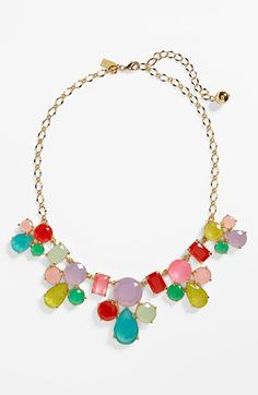 kate spade new york 'gumdrop gems' mixed stone frontal necklace available at #Nordstrom