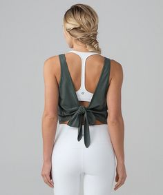 Tie back yoga tank by lululemon