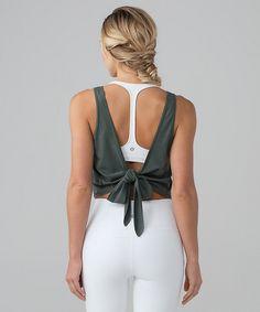 Tie back yoga tank by lululemon