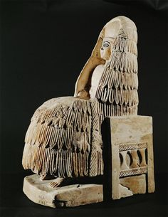 Statuette of Priestess. Steatite. H. 34.4 cm. Early Dynastic II Period, 2700-2600 BCE. Temple of Ishtar, Tell Hariri (ancient Mari), Syria. National Museum of Damascus. Current Status Unknown. Photo Credit: Erich Lessing/ART RESOURCE, N.Y.
