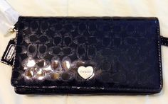 100% Authentic Coach PERFORATED EMBOSSED LIQUID GLOSS DEMI CLUTCH F52081 #Coach #Wristlet, $89.88 http://boundlessbargainsllc.webstoreplace.com/
