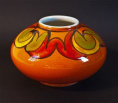 Poole Pottery Delphis squat vase signed www.temperleycollectables.co.uk