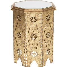 Italian Gold Octagon Moroccan Table - High Fashion Home