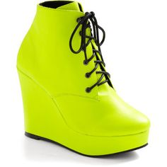 highlighter yella modcloth bootie