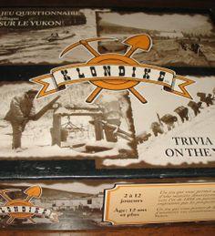 Klondike Trivia Board Game on the Yukon Gold Rush 1996 Bilingual. #klondike #goldrush #boardgames