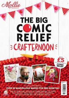 The Big Comic Relief Crafternoon | Mollie Makes | Red Nose Day