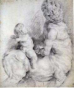 Peter Paul Rubens drawing Centaur Tormented by Cupid716.jpg (700×834)