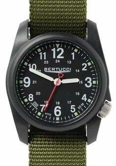 Find great deals for NEW Bertucci Field Black Forest Green Field Watches, Big Watches, Cool Watches, Watches For Men, Casual Watches, Expensive Watches, Hunting Clothes, Black Forest, All Black