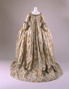 18th century, France - Dress - Silk, metal thread