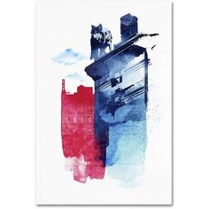 Trademark Fine Art 'This Is My Town' Canvas Art by Robert Farkas, Size: 30 x 47, Blue