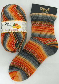"Woolstack - Opal ""Sweet and Spicy"" Sock Yarn - Peach (6751), £7.95 (http://www.woolstack.co.uk/opal-sweet-and-spicy-sock-yarn-peach-6751/) - I'd love these!"