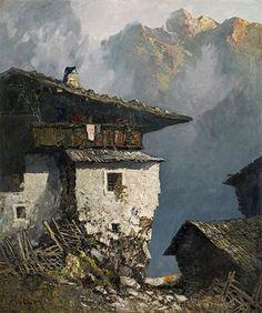 View Bergbauernhof by Oskar Mulley on artnet. Browse upcoming and past auction lots by Oskar Mulley. Landscape Art, Landscape Paintings, Studio Ghibli Art, Background Drawing, Mountain Paintings, House 2, Bergen, Pattern Art, Nepal