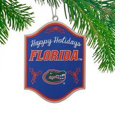 Florida Gators Happy Holidays Sign Ornament | Gator SportShop