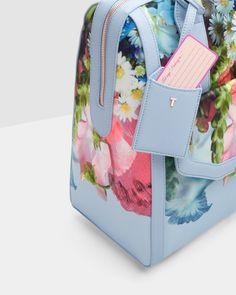 Focus Bouquet travel bag - Pale Blue   Bags   Ted Baker UK