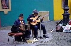 La Boca, Buenes Aires, Argentina...street musicians play tango...