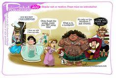 "Disney's ""Pocket Princesses"" (A Funny Comic by Amy Mebberson) - Top-Trends Disney Pixar, Walt Disney, Cute Disney, Disney Girls, Disney And Dreamworks, Disney Magic, Disney Princess Ages, Funny Princess, Aladdin Princess"