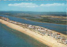 Legenda: Algarve - A praia de Faro vista do ar Editor: Portugal Turístico Série: 462 Fotografia: Impressão: Data: Circulação: De Lisboa para Londres