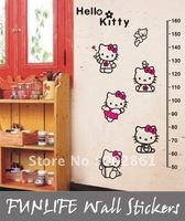 [funlife]-50-160cm Ruler Girl's room Hello Kitty Lovely Children Growth Chart Wall Sticker, Growth Tower