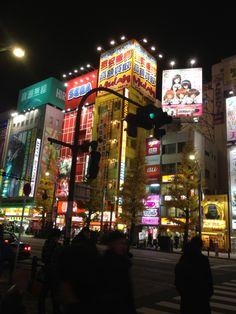 秋葉原 (Akihabara) these are three eight story arcades I loved it