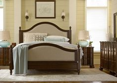 Paula Deen Home River House Collection Low Poster Bed Set | Hayneedle.com. Cherry Wood Neveers finished in Walnut.