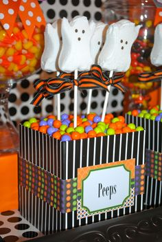 Ghost Peeps, perfect for your Halloween Party