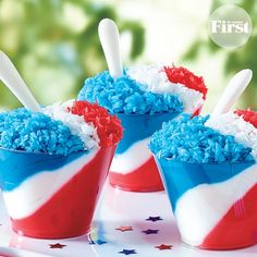 Wave-the-Flag Mousse Cups