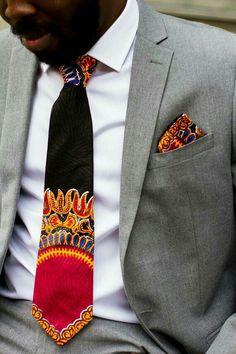 Dashiki African tie and matching pocket square: Ankara par Laviye Cravate africaine Dashiki et pochette assortie: Ankara par Laviye African Print Dresses, African Wear, African Attire, African Dress, African Prints, African Style, African Women, African Inspired Fashion, African Print Fashion