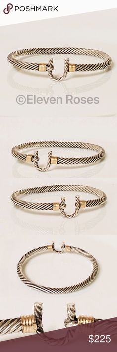 I just added this listing on Poshmark: Sterling Silver & 14k Gold Cable Hook Bracelet. #shopmycloset #poshmark #fashion #shopping #style #forsale #Other