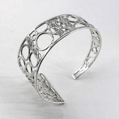 Silver Asymmetric Cuff Bracelet, Statement Bracelet, One of a Kind Cuff, Woven Bracelet, Handmade Bracelet, Unique Bracelet, Circles Cuff Unique Bracelets, Handmade Bracelets, Cuff Bracelets, Handmade Jewelry, Unique Jewelry, Hair Jewelry, Jewelry Art, Jewellery, Weaving Art